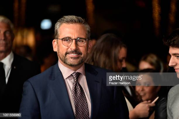 Steve Carell attends the Amazon Studios of Angeles premiere of Beautiful Boy at Samuel Goldwyn Theater on October 08 2018 in Beverly Hills California