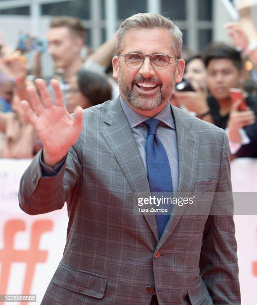 Steve Carell attends the 'Beautiful Boy' premiere during 2018 Toronto International Film Festival at Roy Thomson Hall on September 7 2018 in Toronto...