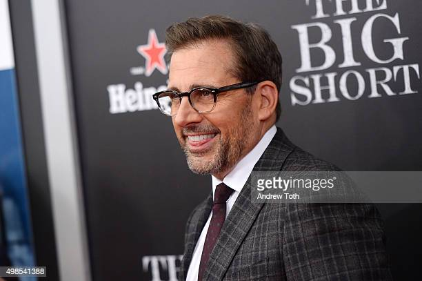 Steve Carell attends The Big Short New York premiere at Ziegfeld Theater on November 23 2015 in New York City