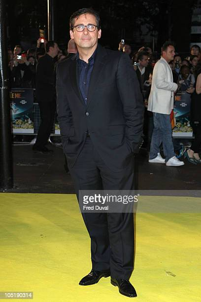 Steve Carell attends the European premiere of 'Despicable Me' at Empire Leicester Square on October 11 2010 in London England