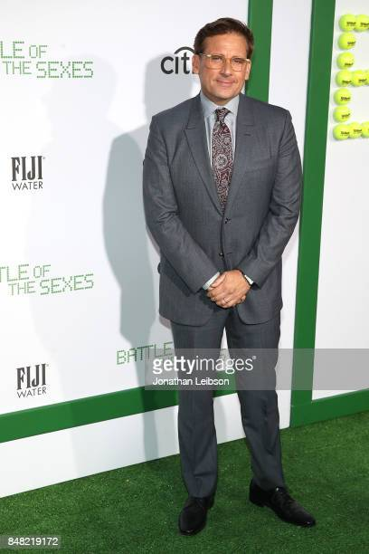 Steve Carell attends the FIJI Water at the Battle of the Sexes Los Angeles Premiere on September 16 2017 in Westwood California