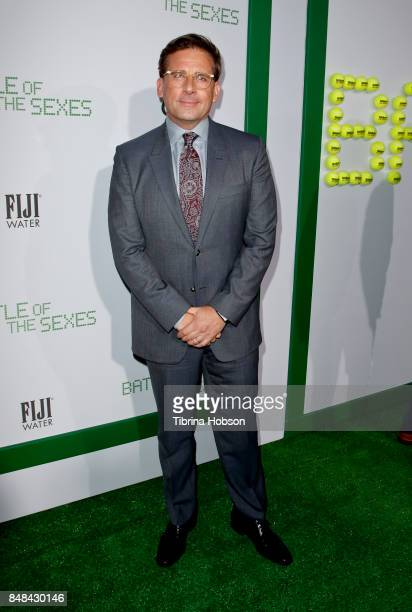 Steve Carell attends the premiere of Fox Searchlight Picture 'Battle Of The Sexes' at Regency Village Theatre on September 16 2017 in Westwood...