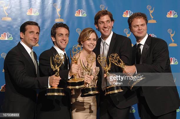 """Steve Carell, B.J. Novak, Jenna Fischer, John Krasinski and Rainn Wilson of """"The Office,"""" winner Outstanding Comedy Series"""