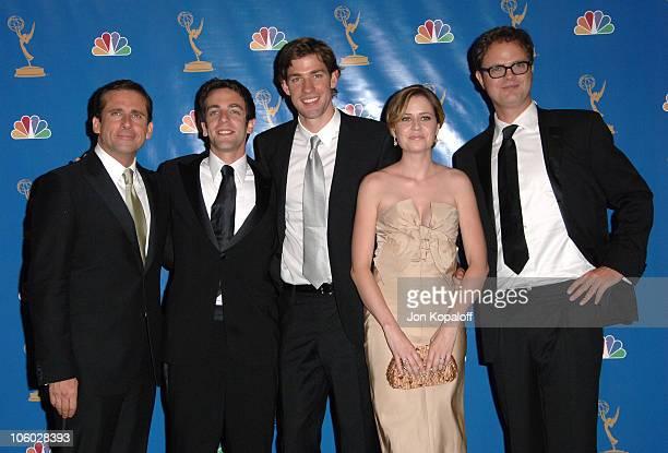 """Steve Carell, BJ Novak, John Krasinski, Jenna Fischer and Rainn Wilson of """"The Office,"""" winner Outstanding Comedy Series"""