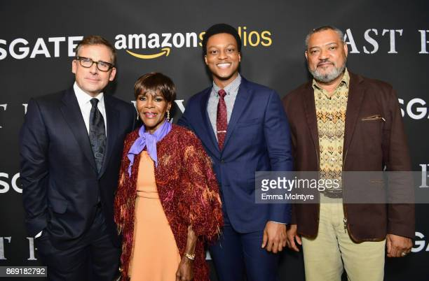 Steve Carell Cicely Tyson J Quinton Johnson and Laurence Fishburne attend the premiere of Amazon's 'Last Flag Flying' at DGA Theater on November 1...