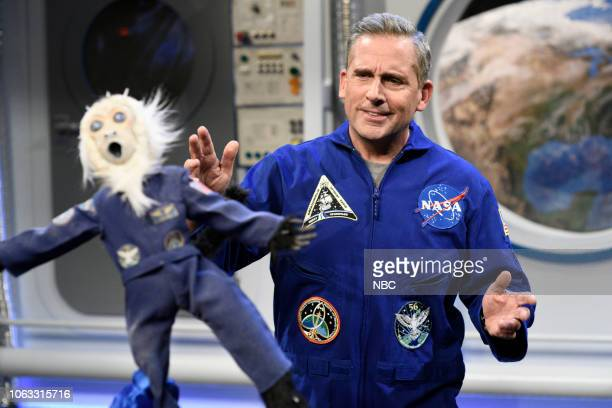 LIVE Steve Carell Episode 1752 Pictured Host Steve Carell as Ed McGovern during the Space Station Broadcast sketch on Saturday November 17 2018