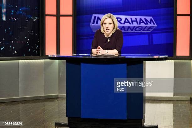 "Steve Carell"" Episode 1752 -- Pictured: Kate McKinnon as Laura Ingraham during the ""Voter Fraud"" Cold Open on Saturday, November 17, 2018 --"