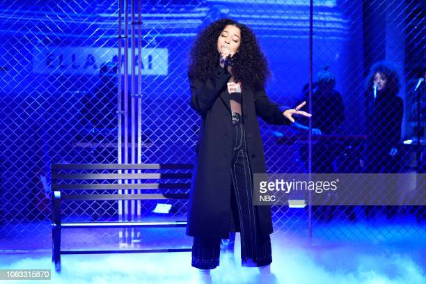 LIVE Steve Carell Episode 1752 Pictured Musical guest Ella Mai performs on Saturday November 17 2018