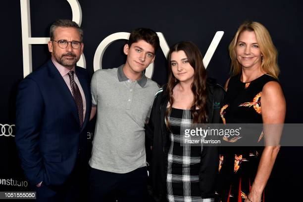 Steve Carell John Carell Elisabeth Anne Carel and Nancy Carell attend the Amazon Studios of Angeles premiere of Beautiful Boy at Samuel Goldwyn...
