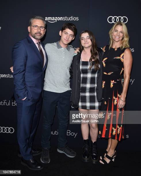 Steve Carell John Carell Elisabeth Anne Carell and Nancy Carell attend Amazon Studios of Angeles Premiere of 'Beautiful Boy' at Samuel Goldwyn...
