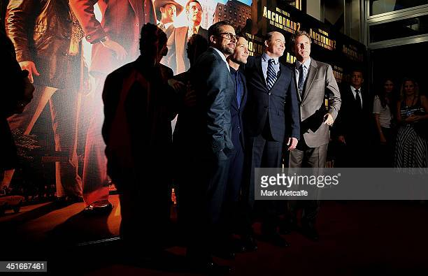Steve Carell Paul Rudd David Koechner and Will Ferrell arrive at the Anchorman 2 The Legend Continues Australian premiere on November 24 2013 in...