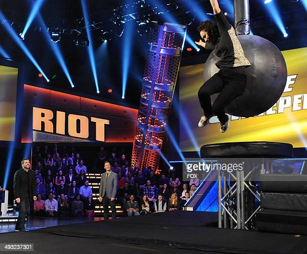Steve Carell Rove McManus and Meryl Hathaway in the 'Wrecking Ball' series premiere of RIOT airing Tuesday May 13 2014 on FOX