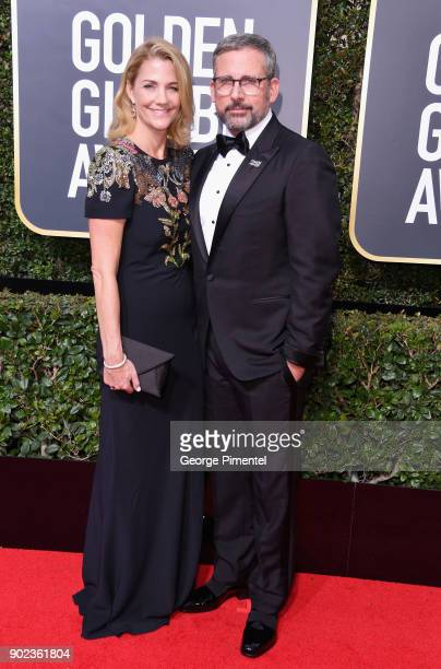 Steve Carrell attends The 75th Annual Golden Globe Awards at The Beverly Hilton Hotel on January 7 2018 in Beverly Hills California