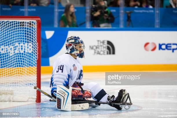 Steve CASH during The Ice Hockey gold medal game between Canada and United States during day nine of the PyeongChang 2018 Paralympic Games on March...