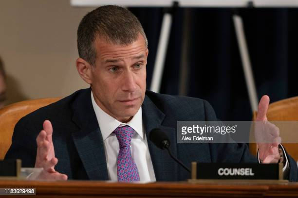 Steve Castor Republican House Intelligence Committee Counsel questions Gordon Sondland the US ambassador to the European Union as he testifies before...