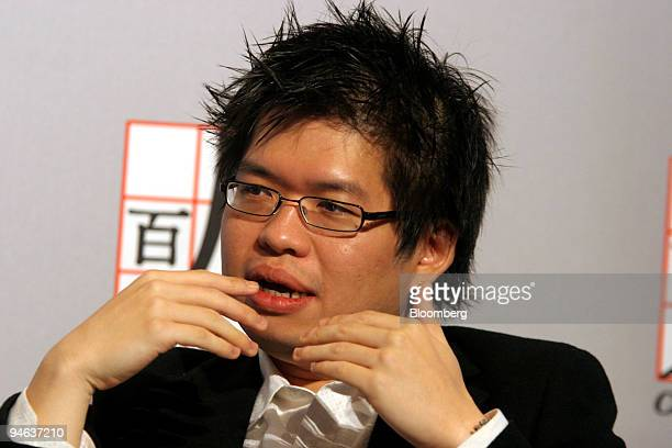 Steve Chen, co-founder of YouTube, speaks at the Committee of 100's Sixteenth Annual Meeting in New York, on Thursday, April 19, 2007.