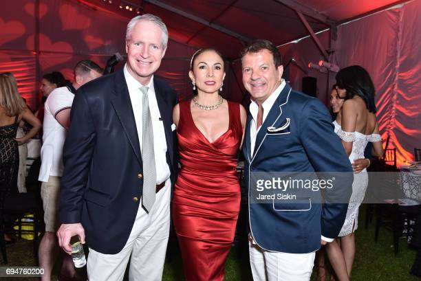 Steve Christianson Helena Christianson and Rocco Ancarola attend the 21st Annual Hamptons Heart Ball at Southampton Arts Center on June 10 2017 in...