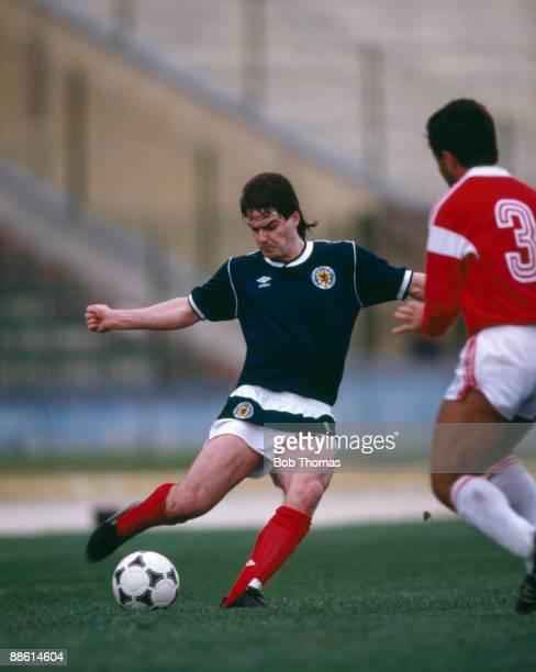 Steve Clarke of Scotland during the Malta v Scotland Friendly International match held in Valetta Malta on the 22nd March 1988