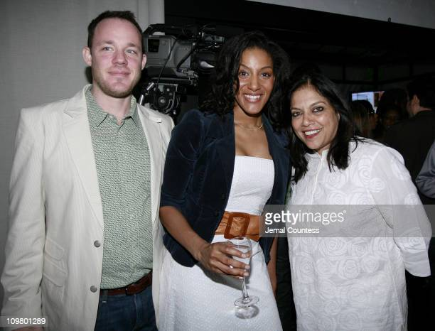 Steve Colman Sarah Jones and Mira Nair during Ghetto Film School Annual Spring Benefit Dinner June 11 2007 at Bottino in New York City New York...