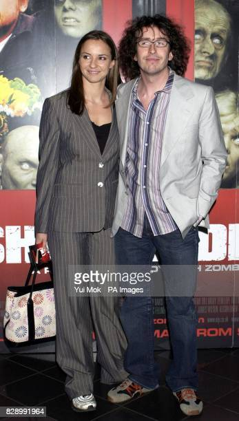 Steve Coogan and Caroline Hickman arrive for the world premiere of Shaun of the Dead at the Warner West End cinema in Leicester Square central London