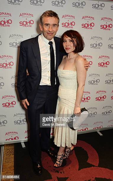 Steve Coogan and Daisy Lewis attend the Soho Theatre's Alternative Gala party at The Soho Theatre on March 10 2016 in London England