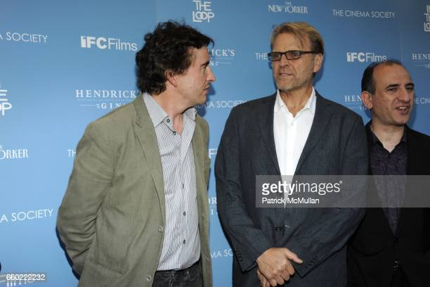Steve Coogan and David Rasche attend THE CINEMA SOCIETY THE NEW YORKER host a screening of 'IN THE LOOP' at IFC Center on July 13 2009 in New York