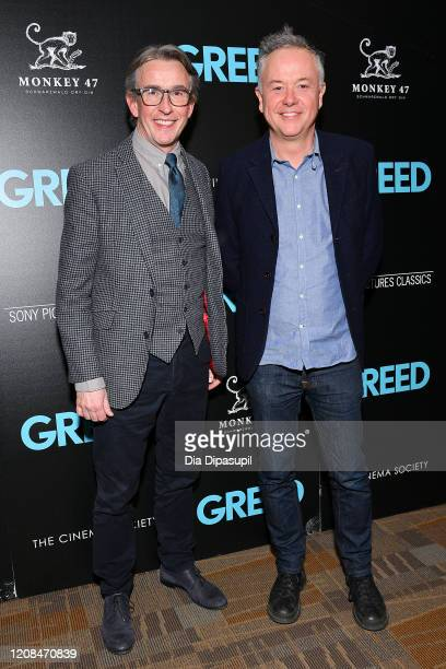 Steve Coogan and Director Michael Winterbottom attend as Sony Pictures Classics The Cinema Society Host A Special Screening Of Greed at Cinepolis...