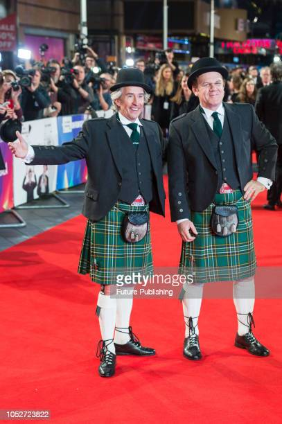 Steve Coogan and John C Reilly attend the World Premiere of 'Stan & Ollie' at Cineworld, Leicester Square, during the 62nd London Film Festival...