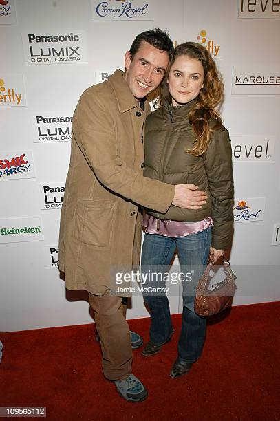 Steve Coogan and Keri Russell during 2005 Park City Marquee Opening Night Party at Buddha Bar at Harry O's in Park City Utah United States