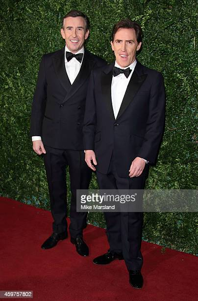 Steve Coogan and Rob Brydon attend the 60th London Evening Standard Theatre Awards at London Palladium on November 30 2014 in London England