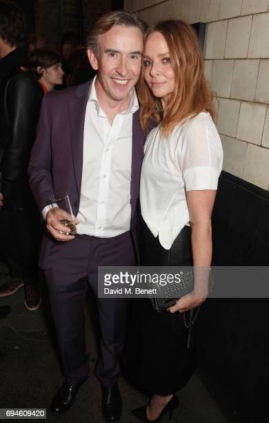 Steve Coogan and Stella McCartney attend a celebration of the Stella McCartney AW17 collection and film launch at Ye Olde Mitre on June 10 2017 in...