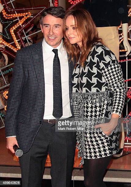 Steve Coogan and Stella McCartney attend the Stella McCartney shop Christmas Lights switch on on November 26 2014 in London England