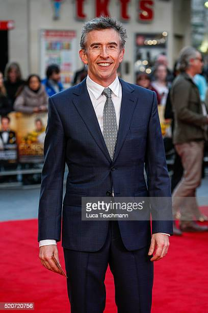"""Steve Coogan arrives for the UK film premiere Of """"Florence Foster Jenkins"""" at Odeon Leicester Square on April 12, 2016 in London, England."""