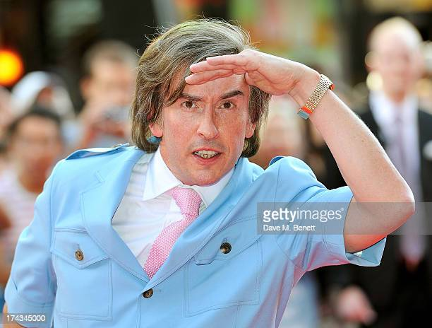 Steve Coogan as Alan Partridge attends the London Premiere of 'Alan Partidge Alpha Papa' at Vue Leicester Square on July 24 2013 in London England
