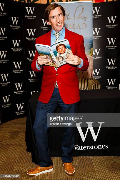 Steve Coogan as Alan Partridge signs copies of his book Alan Partridge Nomad at Waterstones Piccadilly on October 29 2016 in London England