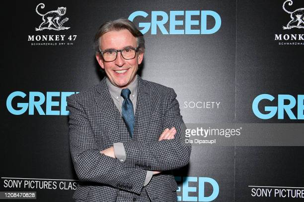 Steve Coogan attends as Sony Pictures Classics The Cinema Society Host A Special Screening Of Greed at Cinepolis Chelsea on February 24 2020 in New...