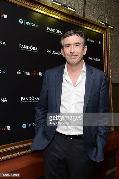 Steve Coogan attends PANDORA Jewelry and Moto X present Philomena at cinema prive at on December 3 2013 in West Hollywood California