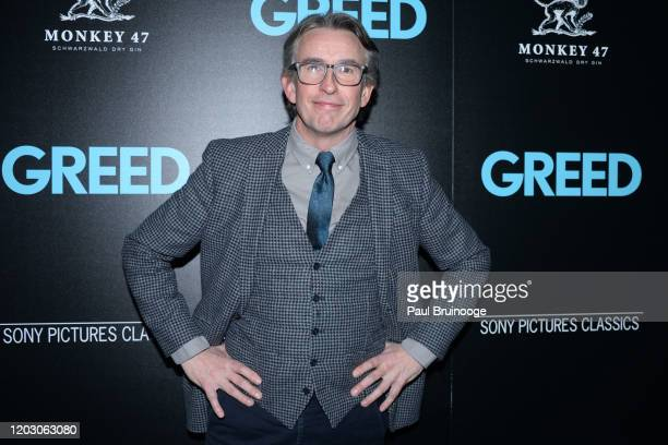 """Steve Coogan attends The Cinema Society & Monkey 47 Host A Special Screening Of Sony Pictures Classics' """"Greed"""" at Cinepolis Chelsea on February 24,..."""