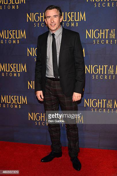 Steve Coogan attends the 'Night At The Museum Secret Of The Tomb' New York Premiere at Ziegfeld Theater on December 11 2014 in New York City