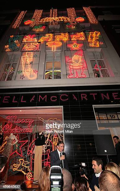 Steve Coogan attends the Stella McCartney shop Christmas Lights switch on on November 26 2014 in London England