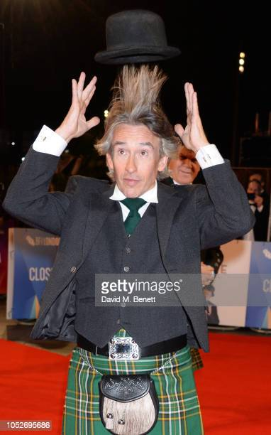 """Steve Coogan attends the World Premiere and Closing Night gala screening of """"Stan & Ollie"""" during the 62nd BFI London Film Festival on October 21,..."""