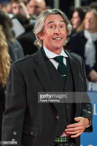 Steve Coogan attends the World Premiere of 'Stan & Ollie' at Cineworld, Leicester Square, during the 62nd London Film Festival Closing Night Gala....