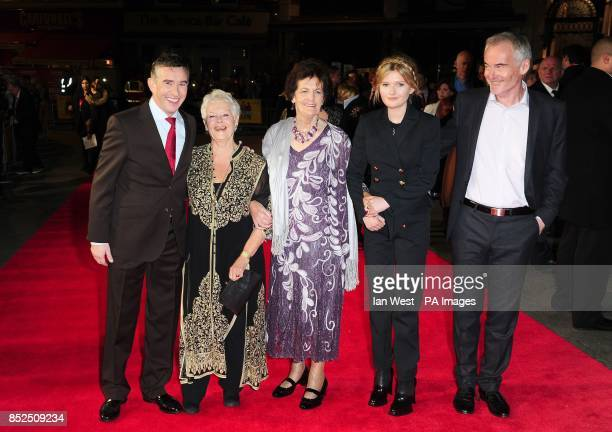 Steve Coogan Dame Judi Dench Philomena Lee Sophie Kennedy Clark and Martin Sixsmith attend a gala screening for new film Philomena at the Odeon...