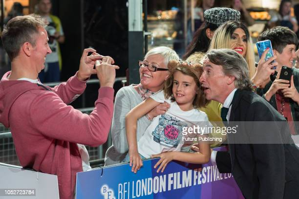 Steve Coogan poses for fan photos during the World Premiere of 'Stan & Ollie' at Cineworld, Leicester Square, during the 62nd London Film Festival...
