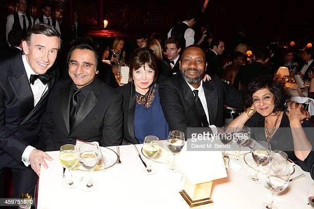 Steve Coogan Sanjeev Bhaskar Lisa Makin Lenny Henry and Meera Syal attend the 60th London Evening Standard Theatre Awards at the London Palladium on...
