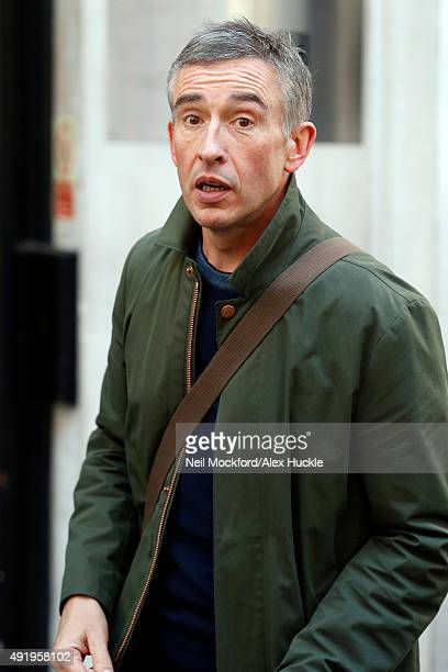 Steve Coogan seen leaving the BBC Radio 2 Studios on October 9 2015 in London England Photo by Neil Mockford/Alex Huckle/GC Images