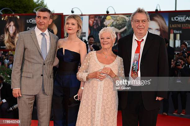 Steve Coogan Sophie Kennedy Clark wearing the JaegerLeCoultre RendezVous Night and Day watch Judi Dench and director Stephen Frears attend the...