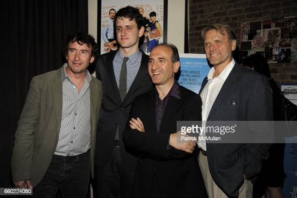 Steve Coogan Zach Woods Armando Iannucci and David Rasche attend THE CINEMA SOCIETY THE NEW YORKER host the after party for 'IN THE LOOP' at Scuderia...