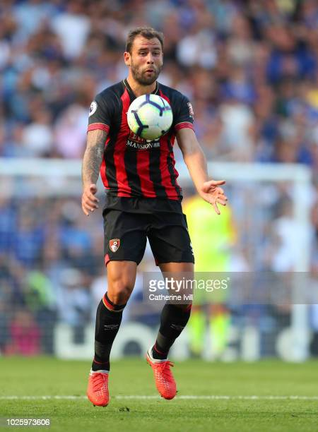Steve Cook of AFC Bournemouth during the Premier League match between Chelsea FC and AFC Bournemouth at Stamford Bridge on September 1 2018 in London...