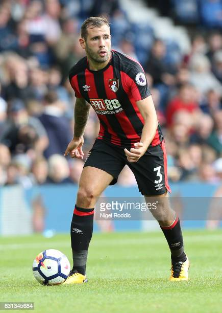 Steve Cook of AFC Bournemouth during the Premier League match between West Bromwich Albion and AFC Bournemouth at The Hawthorns on August 12 2017 in...